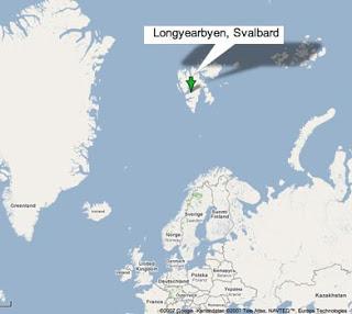 Svalbard haritası